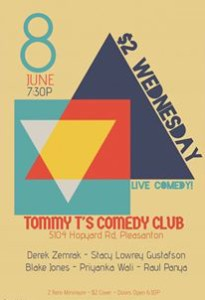 Tommy T's comedy Club Stacey Gustafson